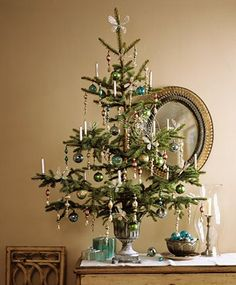 Small tabletop trees - perfect for small places like mine! Design Matters: A tree for every room
