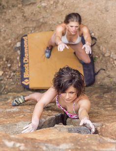Well, who says a woman is a woman's worst enemy? #ClimbingPartners #RockClimbing