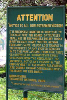 Entrance to Tarangire National Park