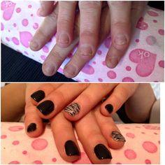 #nails #madebyme #black  unghie onicofagiche