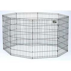 New Preconnected 30  Black Pet Dog Cat Play Exercise Pen Fence w/Case 4B  US $59.99