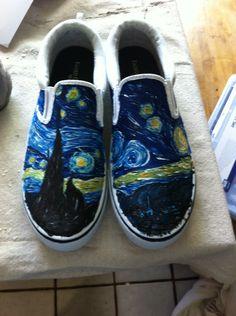 Custom Hand Painted Shoes. , via Etsy.