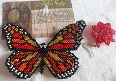Bead Loom Patterns, Beading Patterns, Stitch Patterns, Beaded Jewelry, Beaded Bracelets, Butterfly Pattern, Kids Jewelry, Brick Stitch, Loom Beading