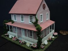Dollhouse for Inside Your Dollhouse 1 144th Scale Pink | eBay