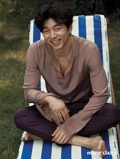 """Coffee Prince"" Actor Gong Yoo for Marie Claire July Edition – Drama Chronicles Busan, Asian Actors, Korean Actors, Actors Male, Korean Idols, Goblin Gong Yoo, Yoo Gong, Gong Yoo Smile, Coffee Prince"