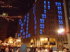 XLVI building lights