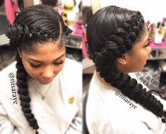 Beautiful braids by @nisaraye - https://blackhairinformation.com/hairstyle-gallery/beautiful-braids-nisaraye-3/