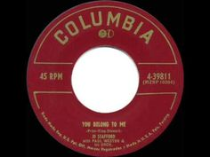 ▶ 1952 HITS ARCHIVE: You Belong To Me - Jo Stafford (her original #1 version) - YouTube