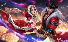 Pin by yami on other pics in 2019 Fantasy Couples, Fantasy Women, Anime Fantasy, Fantasy Art, Anime Love, Anime Guys, Fantasy Characters, Anime Characters, Miya Mobile Legends