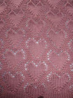 """Lots of Love"" Baby Blanket--Free Knitting Pattern   Knits, Bits & Pics"
