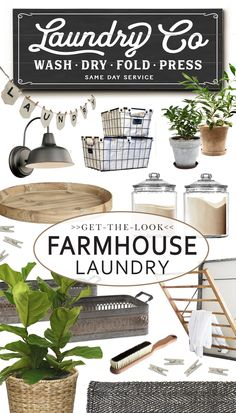 HOUSE + HOME BLOG | LETTERED AND LINED – Rustic Farmhouse Laundry Idea Ideas Sources, Sign, Art, Decor, Rack, Accessories, Bin, Basket, Shelving, Clothespin, Clothespins, Utility Sink, Laundry Service Co, Wash and Dry, Wash dry fold, Self-Serve, Open 24 hrs