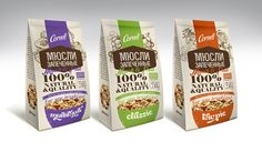 Cornell muesli packaging design by Lena McCoder, via Behance Food Packaging Design, Packaging Design Inspiration, Brand Packaging, Product Packaging, Packaging Ideas, Cereal Packaging, Rice Snacks, Organic Packaging, Muesli