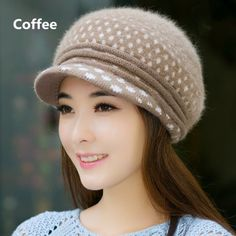 Polka Dot beret hat Stylish womens hat for winter e71c8b65ff87