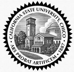 CSU Chico Seal Illustrated by Steven Noble