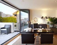 Modern House With Deck And Small Garden In The Roof By John Maniscalco  Architecture   Home Design And Home Interior