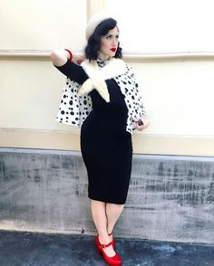 Cruella De Vil 101 dalmations Disney villain Disneybound