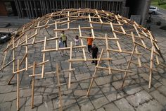 Decay of the Dome Exhibit International Architecture Exhibit, Venice, Italy, 2010 / Wang Shu Hangzhou, Wood Architecture, Architecture Details, Theme Design, Key Projects, Timber Structure, Dome House, Parametric Design, Geodesic Dome
