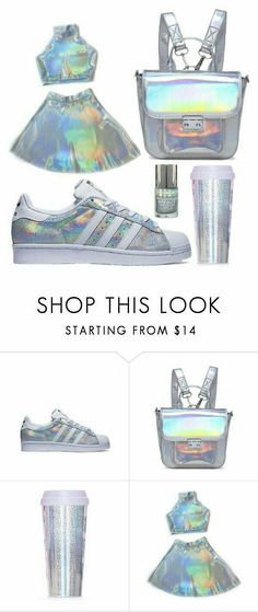 - A fashion look from November 2015 by gabriella-hollis featuring ban.do, white, Blue, adidas and holographic Teen Fashion Outfits, Girl Outfits, Summer Outfits, Womens Fashion, Latest Fashion, How To Have Style, My Style, Mode Geek, Holographic Fashion