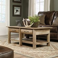 Sauder Harbor View Lift Top Coffee Table Salt Oak Finish Walmart