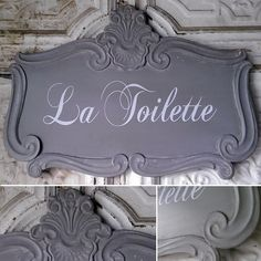 La Toilette Sign | Tin Sign | French Bathroom Sign | French Wall Art