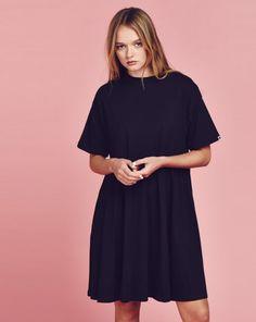 Lazy Oaf Black Simple Dress - Dresses - Categories - Womens