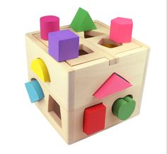 Wooden Cube Living Goods Puzzles Jiasaws Game Learning Tools For Kids Children