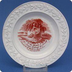 V-Rare-1817-Princess-Charlotte-In-Memoriam-Nursery-Plate
