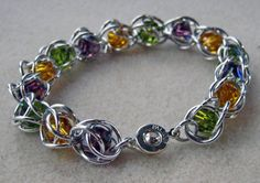 Floating Crystal Chainmaille Bracelet $26