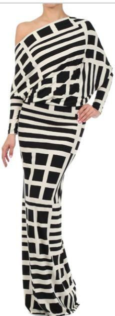 OMG! black squares  stripes on white; WOW! this is truly me...