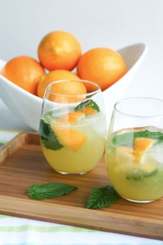 Meyer Lemon Mojitos...hmmm...wonder if Matt and Kerri would be willing to supply the lemons?