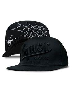 Liquor Brand Herren LIQUOR black Kappe/Cap.Biker,Oldschool,Tattoo,Custom Style