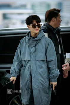 Cha Eun Woo, Airport Style, Ikon, Raincoat, Astro, Songs, Cute, Jackets, Fashion