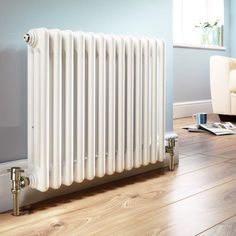 Grace Designer Radiator 1374 x Wickes Edwardian House, Victorian Terrace, Victorian Homes, Designer Radiator, Radiator Cover, Front Rooms, Buy Kitchen, Home Accents, Living Spaces