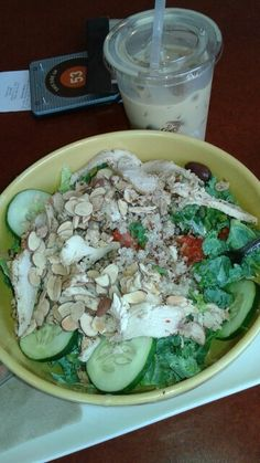 Panera's Mediterranean Chicken & Quinoa salad is my favorite! @tgkphotos  I want another one! Hahaha