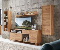 Contemporary TV unit, wall cabinet & wall shelf composition in choice of finish Contemporary Tv Units, Modern Tv Units, Contemporary Furniture, Tv Cabinet Design, Tv Unit Design, Tv Design, Cabinet Decor, Design Ideas, Wall Cabinets Living Room