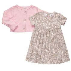 Animal Print 2-Piece Dress Set- possible coming home outfit?