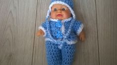 "Handmade crochet dolls clothes, fits 8"" Berenguer. 