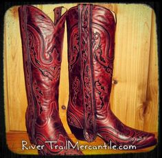 Corral Boots at http://www.rivertrailmercantile.com!