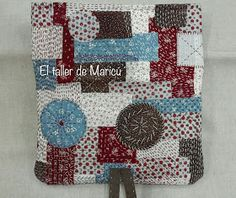 El taller de Maricú: Boro Clutch bag... Shashiko Embroidery, Boro, Clutch Bag, Projects To Try, Patches, Pouch, Diy Crafts, Quilts, Purses