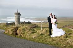 Amy and Dave with Doolin's iconic Doonagore Castle in the background