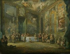Luis Paret y Alcázar (Madrid, 1746 - Madrid, 1799), Charles III dining before the Court, ca. 1775. Oil on panel, 50 x 64 cm.
