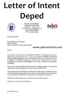 Letter Of Intent Depeddownload This Example Of Letter Of Intent