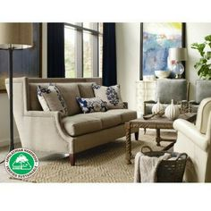 "Appalachian Hardwood Manufacturers Inc., Consumer Member: C.R. Laine Furniture Co., ""At CR Laine, we are committed to preserving natural resources. To that end, our frames are made from hardwoods harvested from the Appalachian mountain region of the USA."" Garrison Sofa"