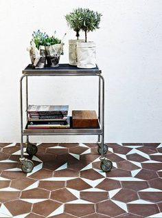 This would also be an adorable bar cart. I need a bar cart in my living room :) | domestic bliss