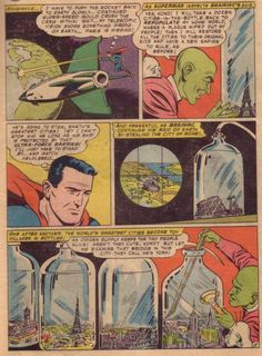 """Action Comics 242 The origin of the city of Kandor in """"The Super-Duel in Space."""""""