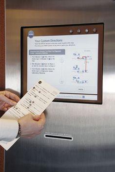 printed kiosk directions