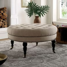 Marvelous Keats Tufted Cocktail Ottoman Christopherson Beddinge Evergreenethics Interior Chair Design Evergreenethicsorg
