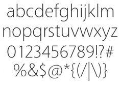 Tall, thin fonts