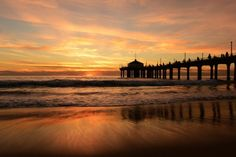 New free stock photo of jetty sea dawn
