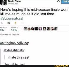 Supernatural cast Osric Chau. I love this cast! :)  #RePin by AT Social Media Marketing - Pinterest Marketing Specialists ATSocialMedia.co.uk